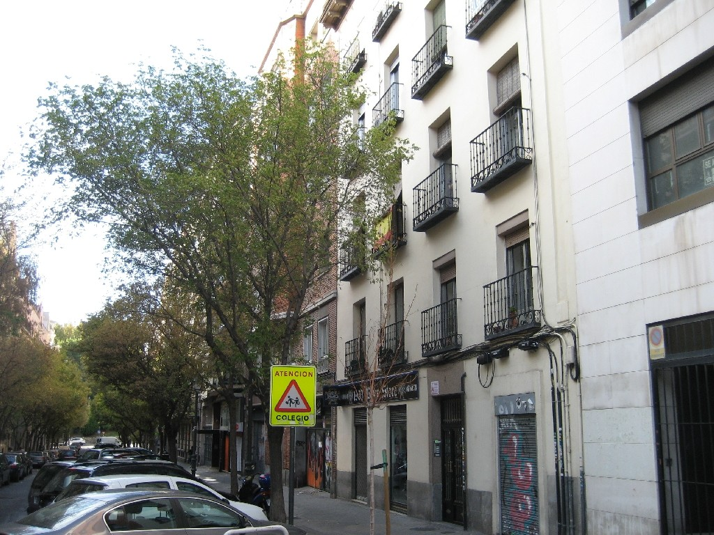 In dieser Straße war der erste CVJM in Madrid in den siebziger Jahren untergebracht