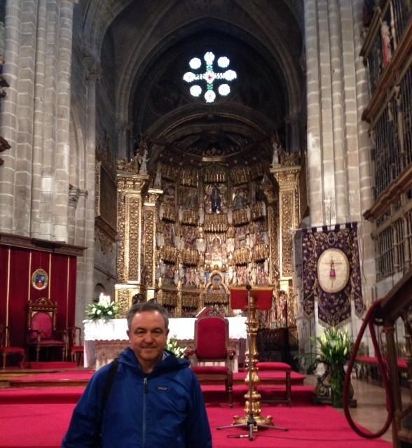 LA FOTO DEL 26.APRILE 2015-DON REMO NEL CAMMINO DI SANTIAGO