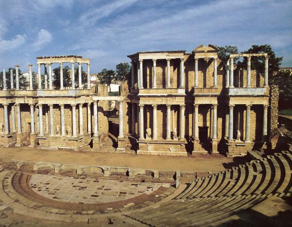 """... città di Merida, l'antica """"Emerita Augusta"""" resti dell'anfiteatro romano"""