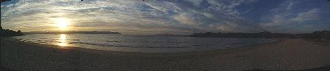 panaromica della spiaggia di Cabanas