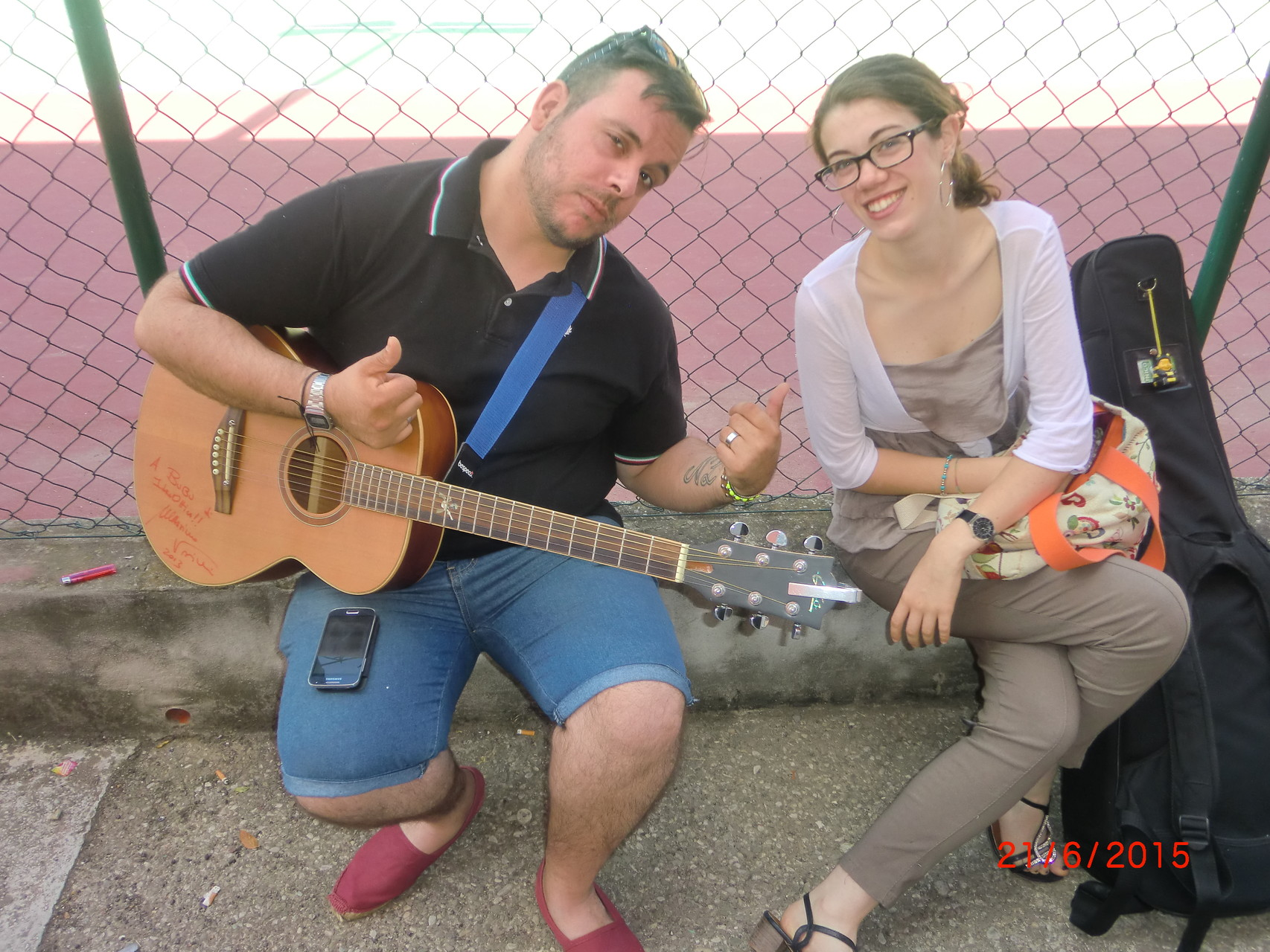 LA FOTO DEL 21.GIUGNO 2015-LUCA E BRI