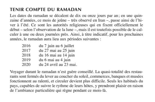 """Extrait du guide """"Découverte Iran"""" aux Editions Olizane à Genève"""