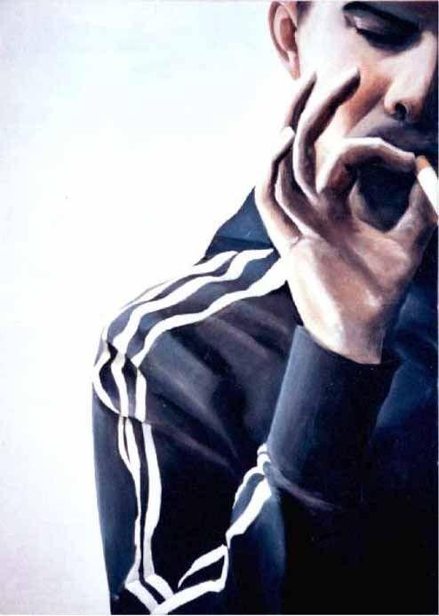 Smoking Or Not Smoking? / 90 x 70 cm / Acryl auf Leinwand /