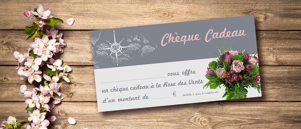 Chéque fleurs & cadeaux La Rose des Vents Ambon