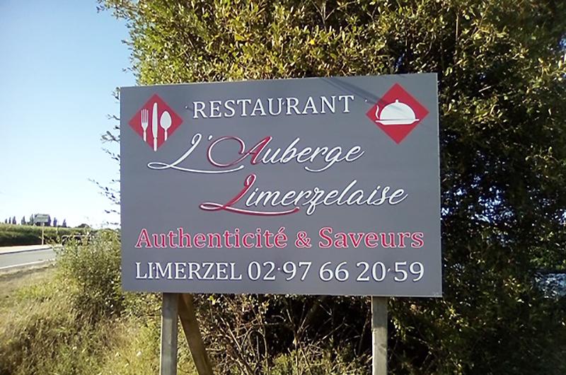 Panneau alu Auberge Limerzelaise