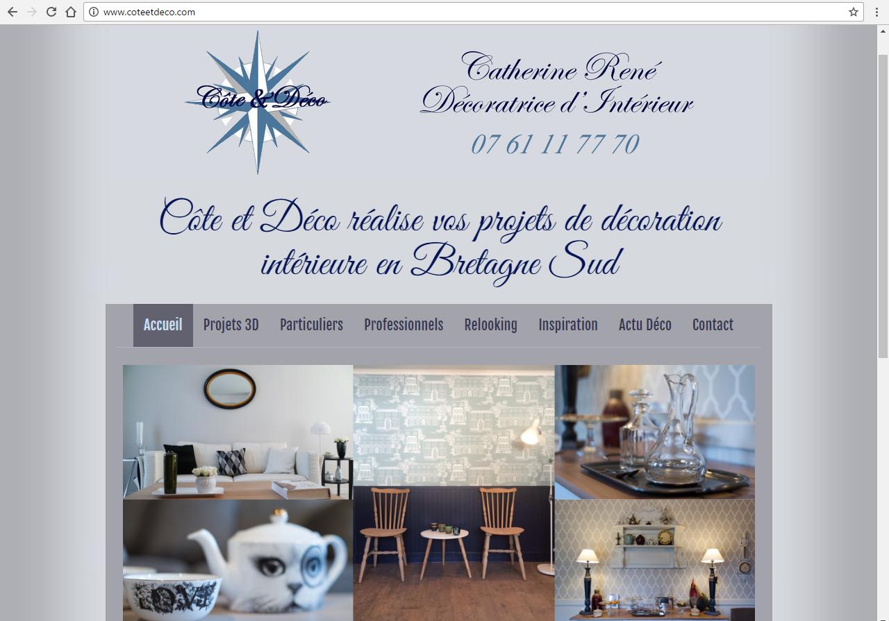 coteetdeco.com Kervignac - ©Linès Création agence web