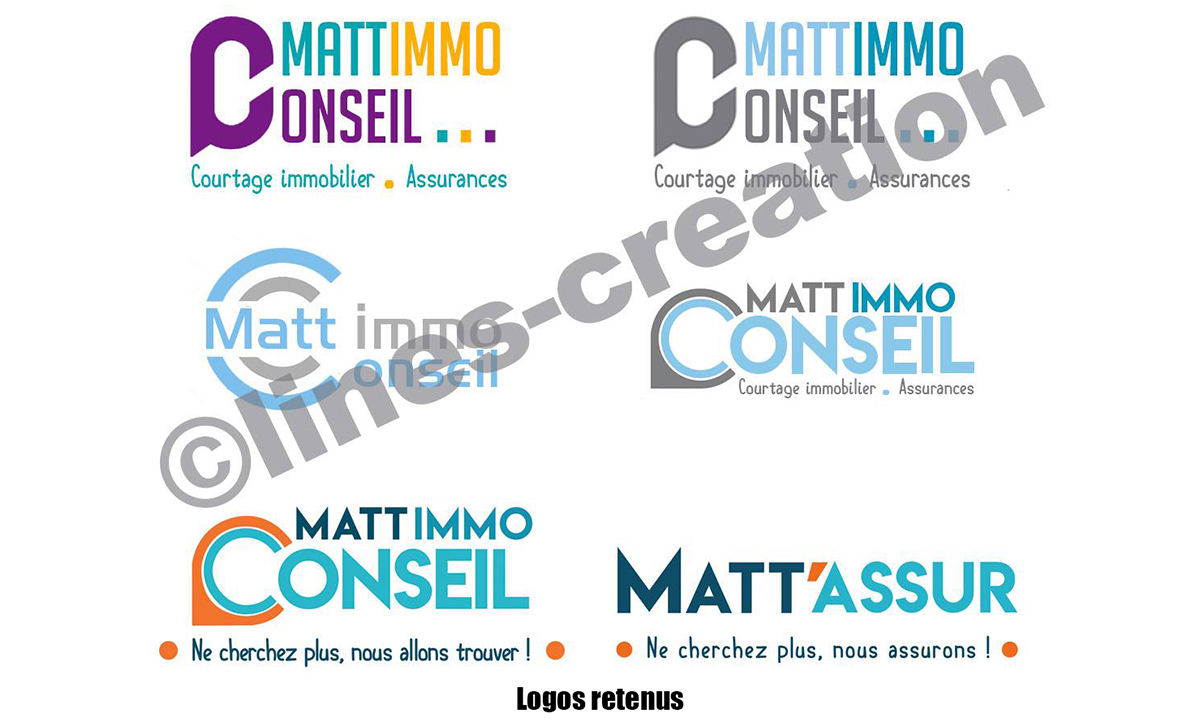Création de logo pour mattimmoconseil.fr