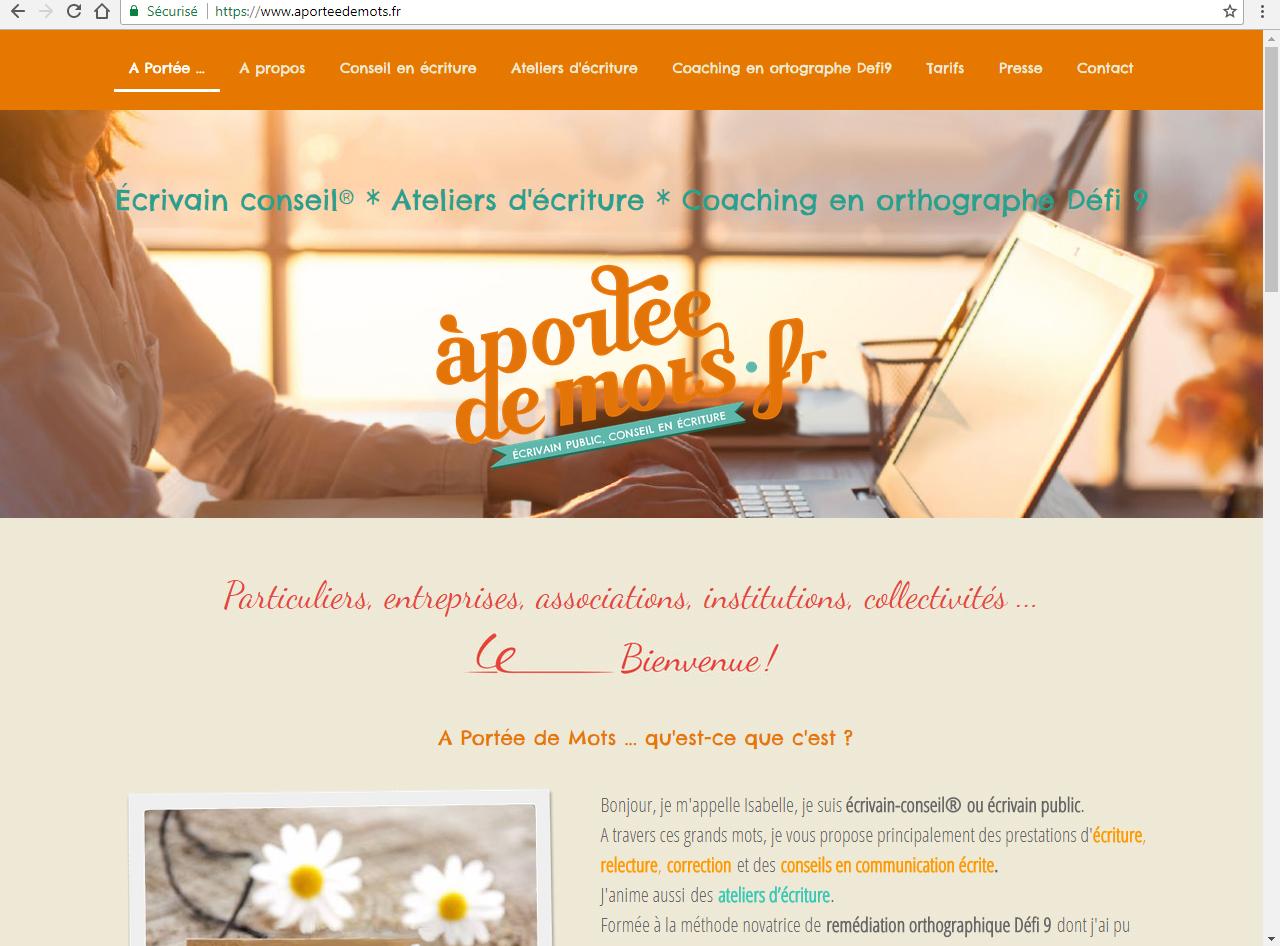 aporteedemots.fr écrivain-conseil® écrivain public