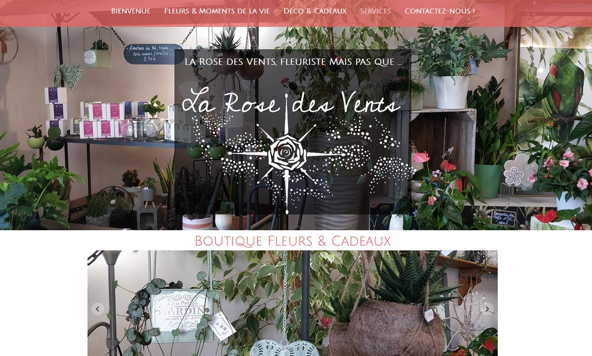 Webdesign larosedesvents56.fr fleuriste, mais pas que ...