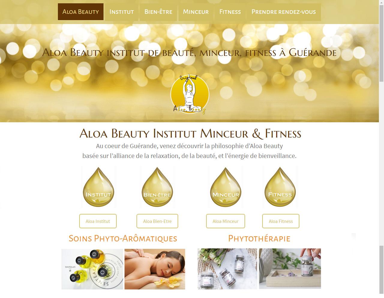 Aloa Beauty Institut Guérande (44) webdesign by Linès Création
