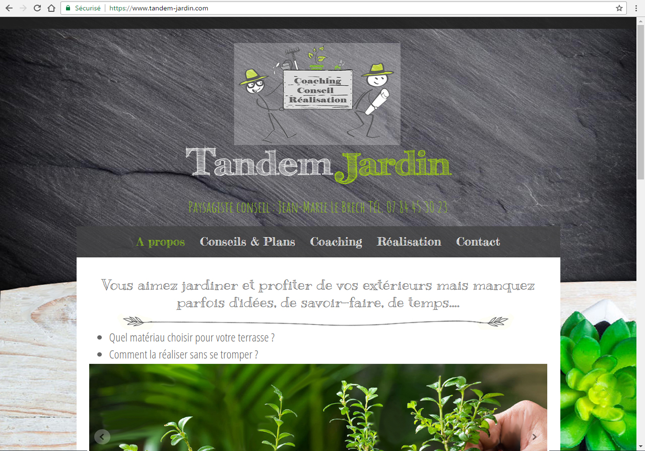 tandem-jardin.com - Paysagiste Questembert ©lines-creation webdesign