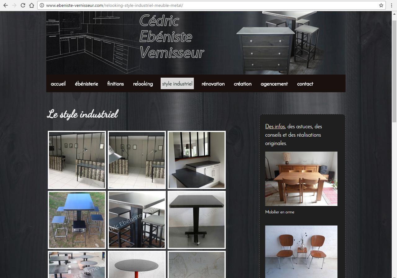 ebeniste-vernisseur.com Kervignac - ©Linès Création sites web vitrine