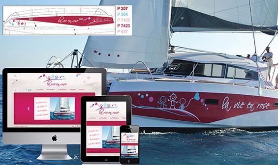 Identité visuelle, habillage et site web - La Vie en Rose