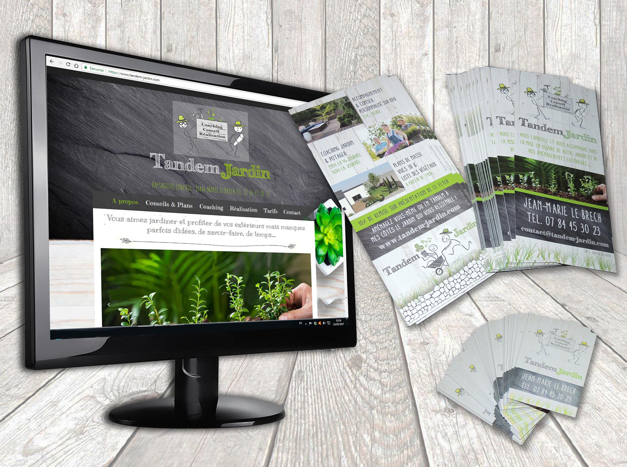 Création LOGO et identité visuelle Tandem jardin Questembert (56)
