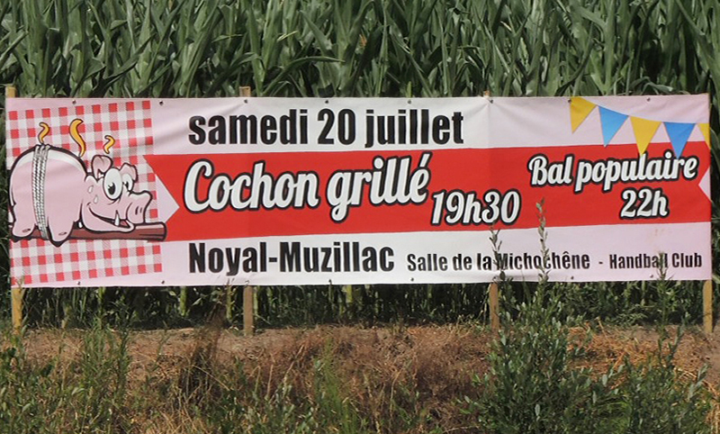 Banderole cochon grillé Noyal-Muzillac