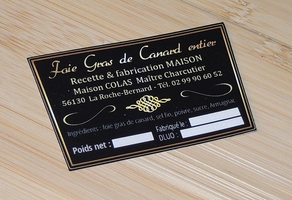 Sticker foie gras Maison Colas Le Palais du Lard