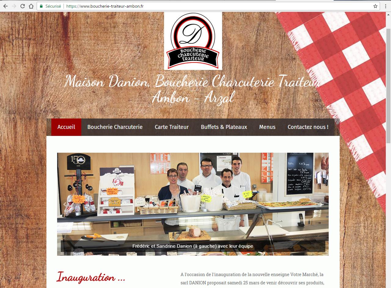 Maison Danion, Boucher-Traiteur, Votre marché Ambon ©lines-creation webdesign