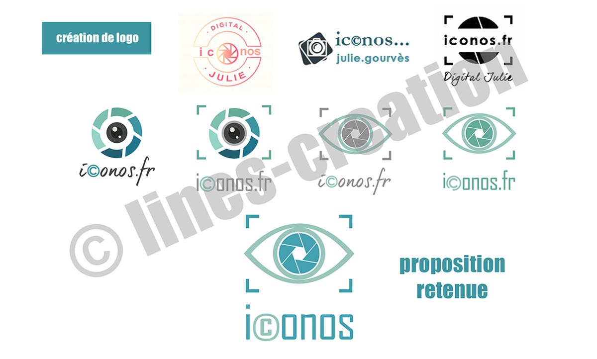 Création de logo pour iconos.fr