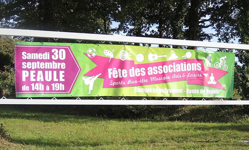 Banderole Fête des associations Péaule