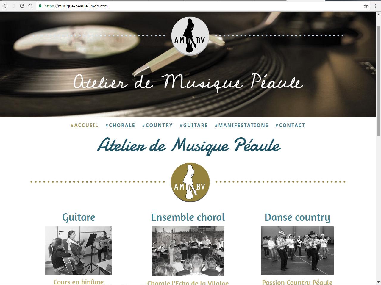 atelierdemusique-peaule.com - ©Linès Création agence web Péaule