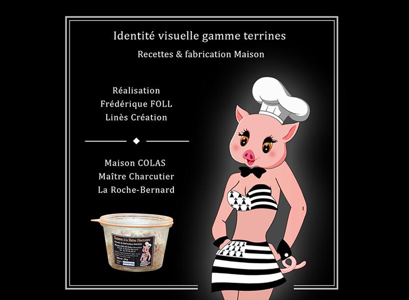 Création identité visuelle gamme verrines Maison Colas La Roche Bernard