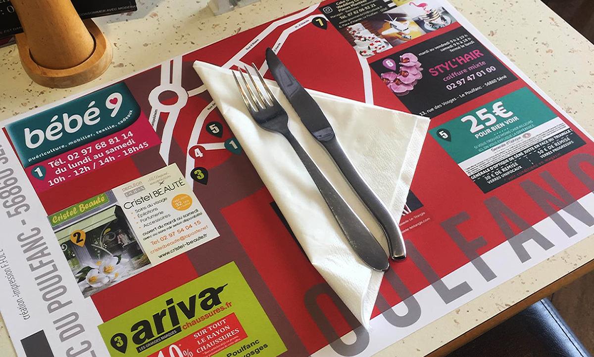 Sets de table brasserie Le Triangle Séné