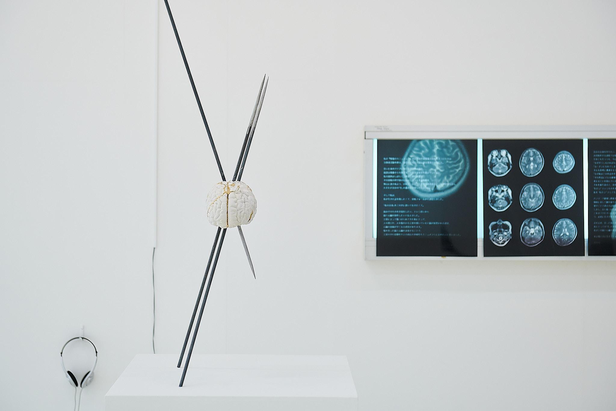 《修復のモニュメント「脳と心臓」》  2020年 ©Atsushi Watanabe 2020 ©Yurina2020/共同制作: ゆりな  撮影: 井上圭佑