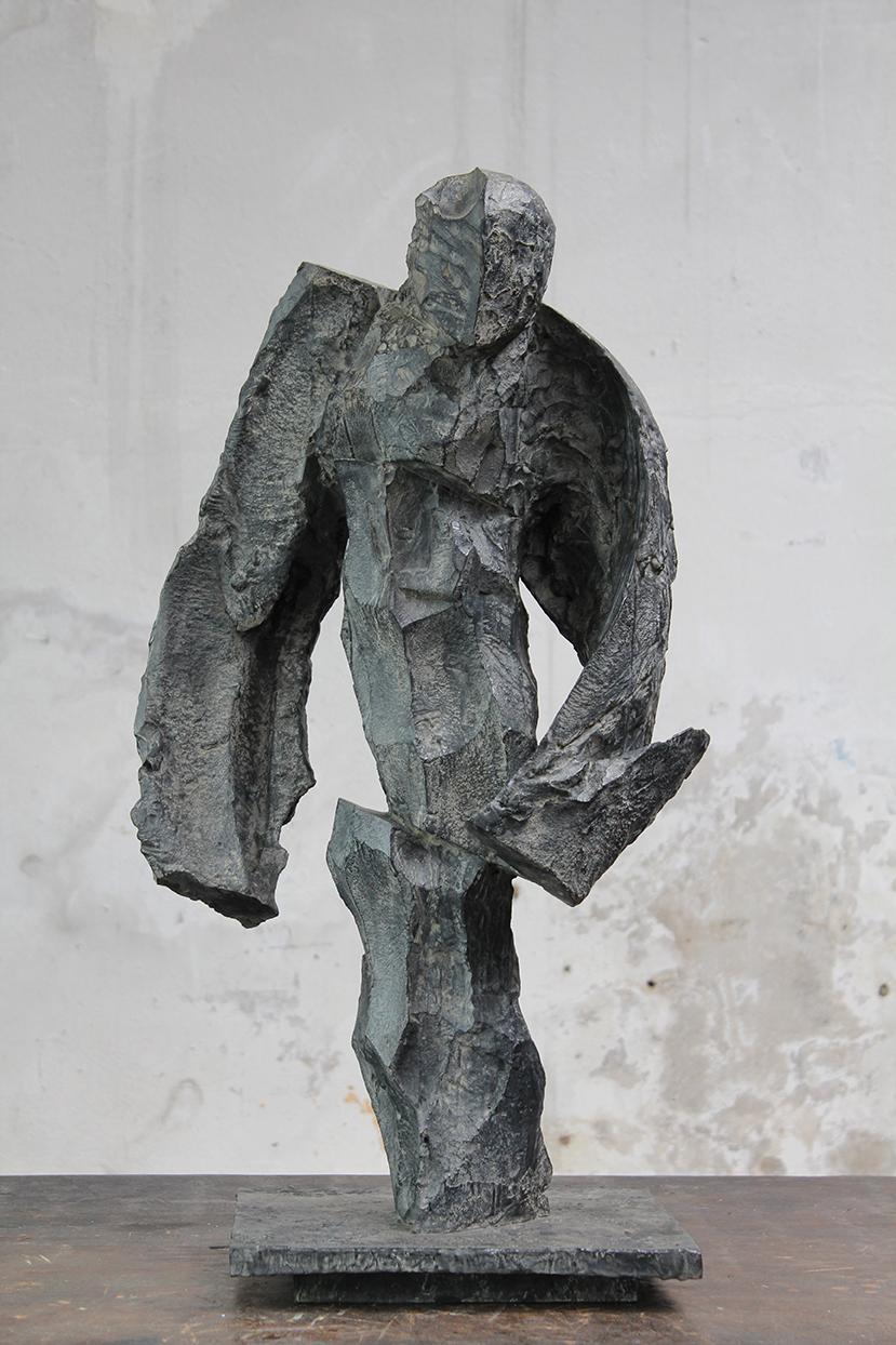 Fou, pièce de résistance, 2016, bronze, 80 x 42 x 32 cm <br> © Mathilde de Torhout