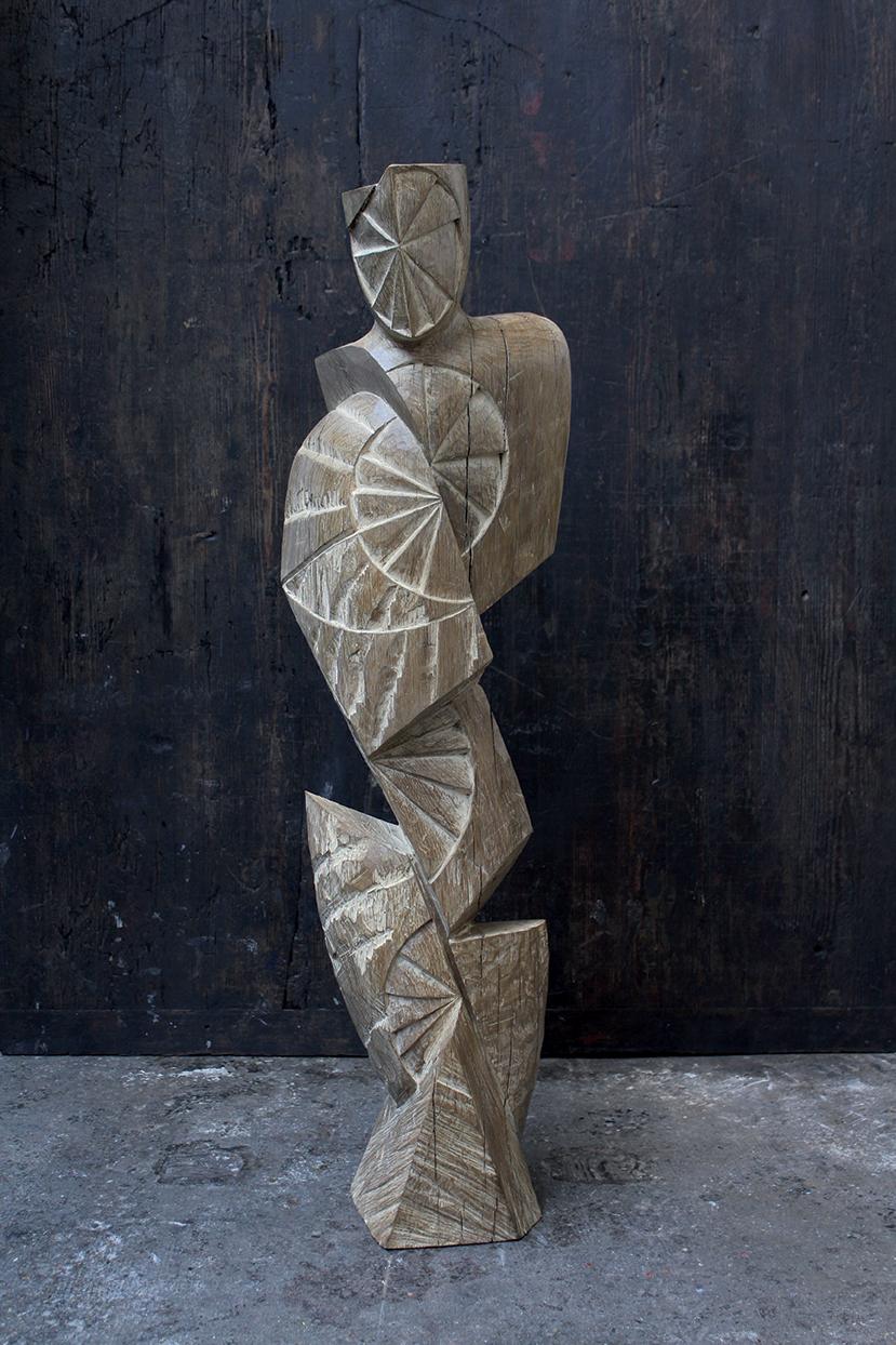Roi, pièce de choix, 2016, 2016, oachred oak, 128 x 36 x 35 cm <br> © Mathilde de Torhout
