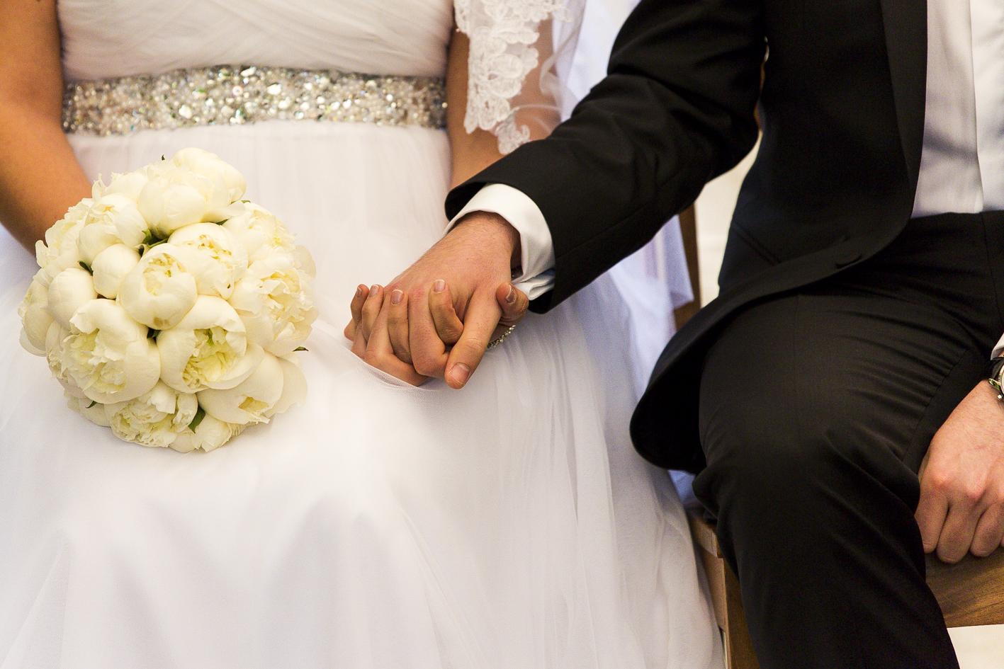 Hände-Brautpaar