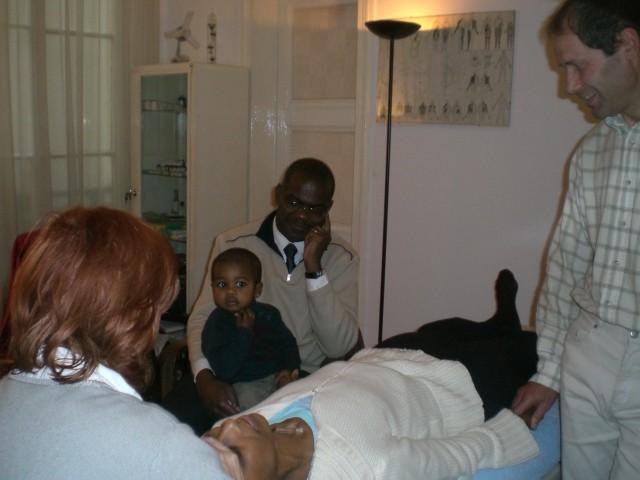 Pratique  sur les patients pour Nadine