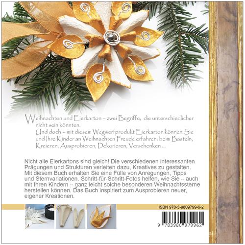 Weihnachtssterne - Kreatives aus Eierkarton Rückseite