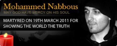 Græsrodsreporter Mohammed Nabbous, skudt af Gaddafis snigskytter i Benghazi, 19. marts 2011