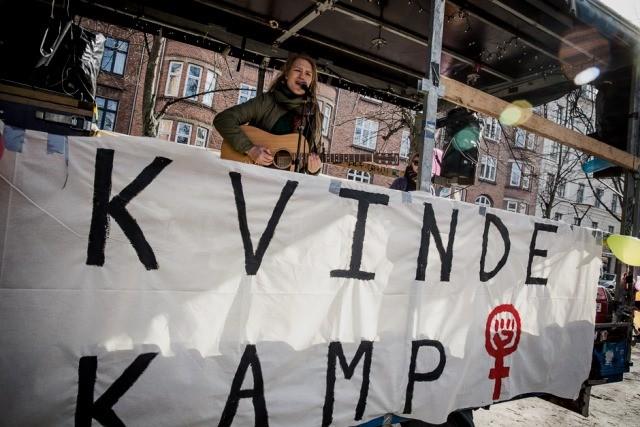 8.marts demo i København, arrangeret af Socialistisk Ungdomsforbund - SUF. (Foto: Mette Kramer Kristensen).