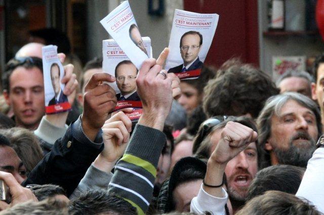 Protester mod Sarkozy i den franske havneby Bayonne