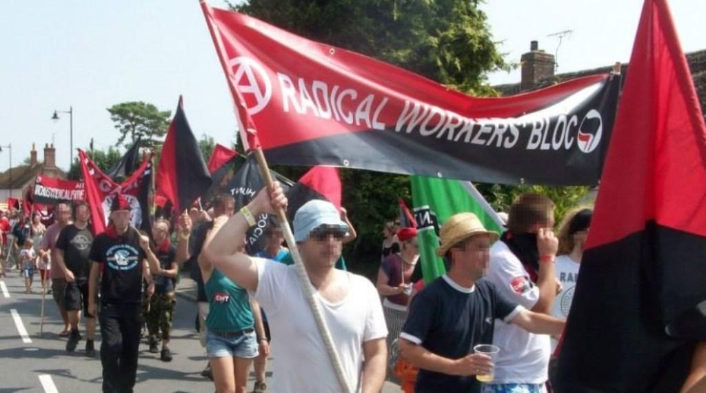 Anarkosyndikalistisk demo i byen Tolpuddle (Dorset)