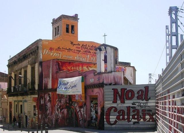 Det autonome sociale centre 'Can Vies' I Barcelonas arbejderkvarter Sants