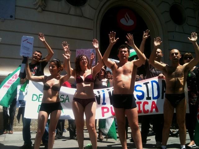 SAT-aktion i regeringskvarteret i Madrid