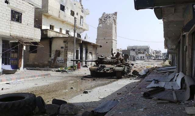 Byen Deraa i april 2013