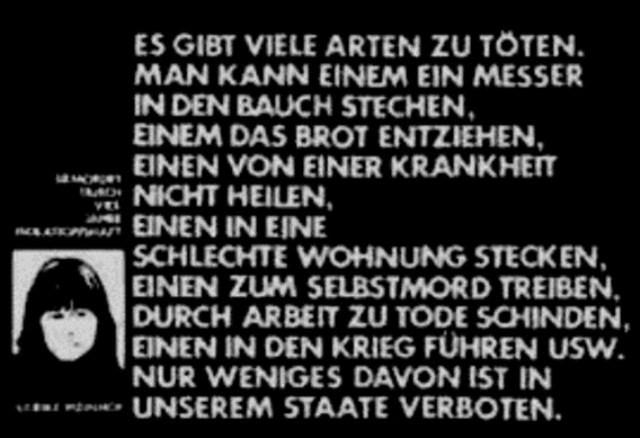Statement af Ulrike Meinhof