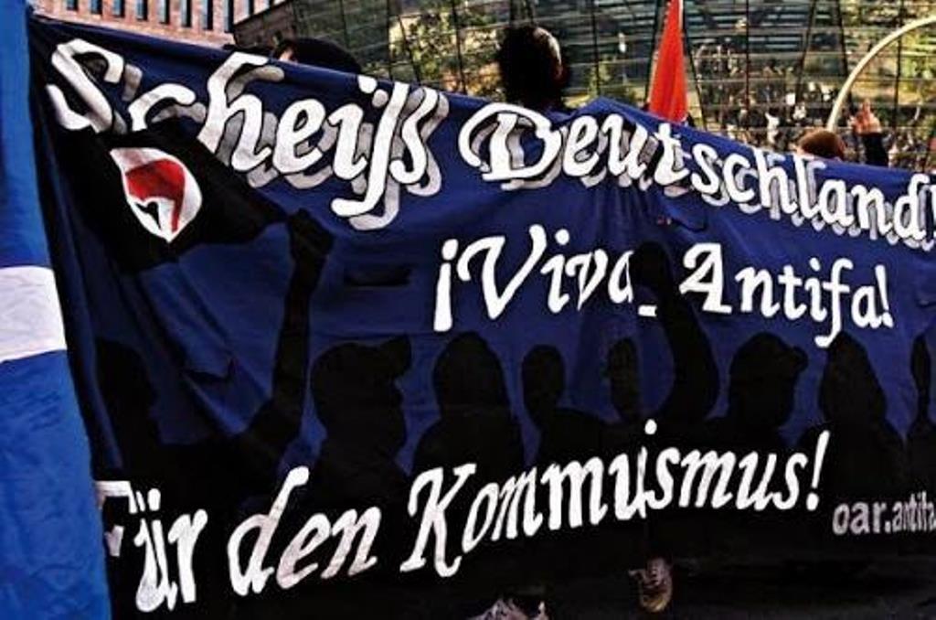 Anti-national demo i Berlin i starten af 1990´erne