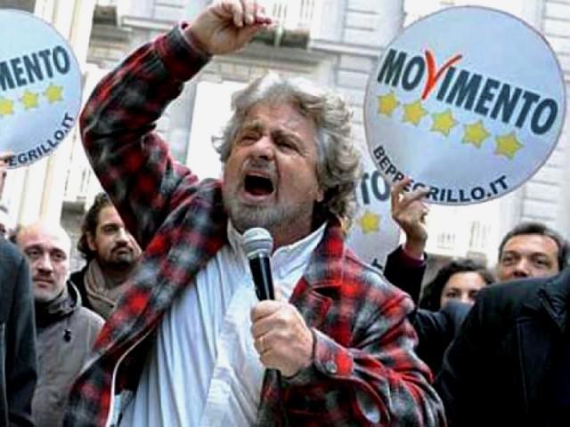 """Beppe Grillo og hans """"rend-mig-i-røven""""-bevægelse"""