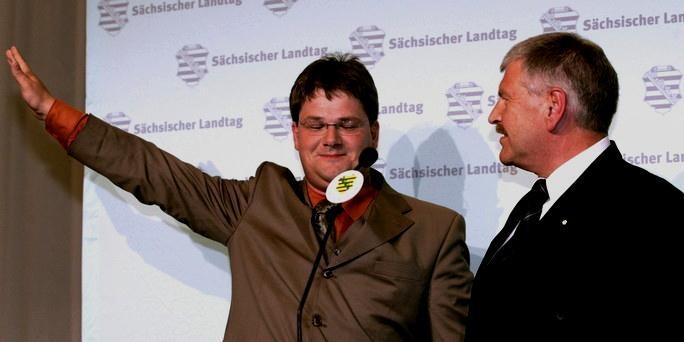 Kæmper om formandsskabet i NPD:  Holger Apfel og Udo Voigt