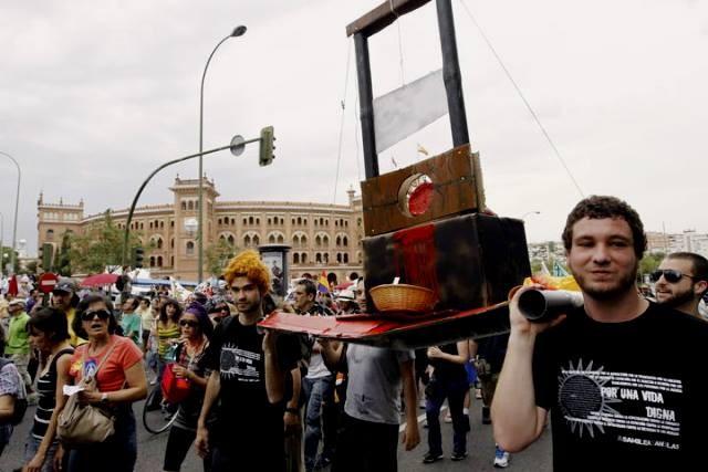 Movimiento 15-M - demonstration i Madrid, d. 12. maj 2013