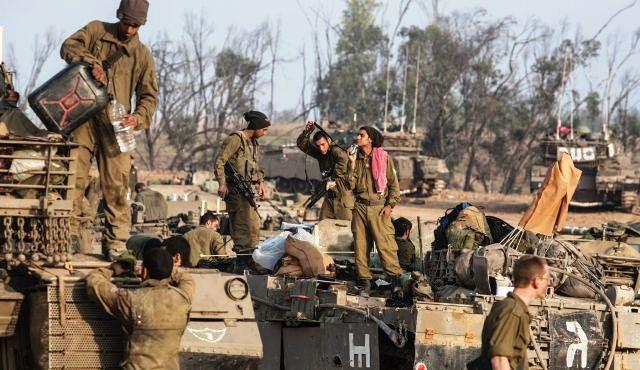 Israelsk militær ved grænsen til GAZA 19.november 2012