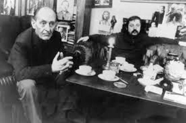 Sangeren Wolf Biermann sammen med den kendte østtyske oppositionelle marxist Robert Havemann