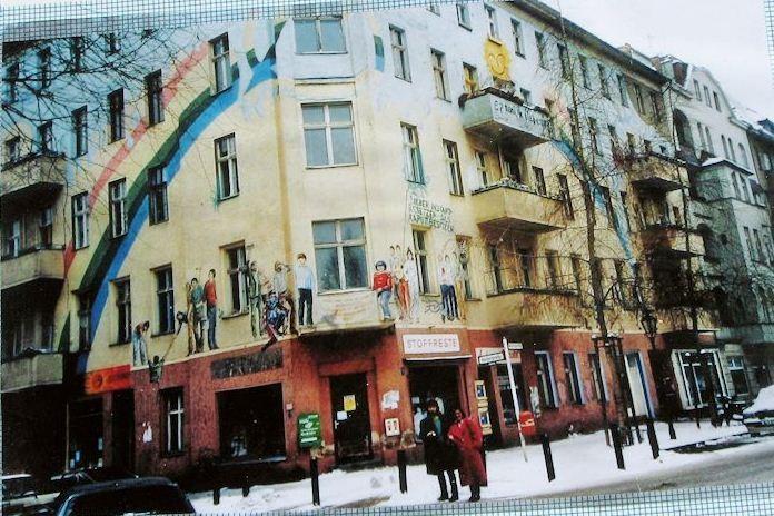 Vestberlin 1981: Et af omkring 230 bz-huse (Nehringsstrasse i Charlottenburg)