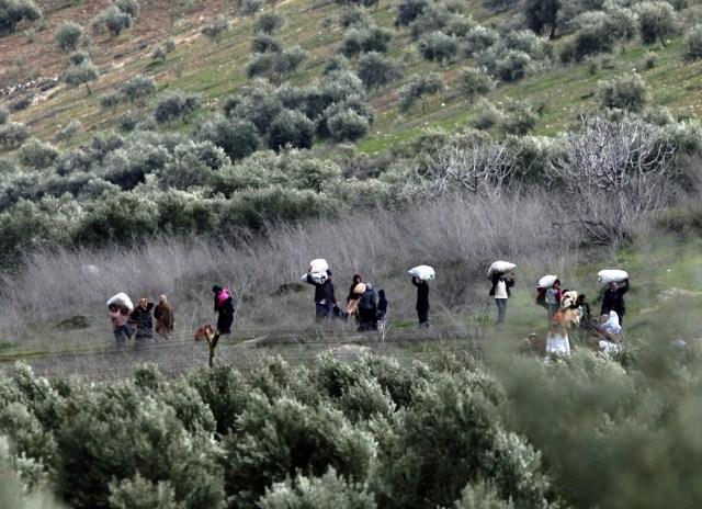 Flugten fra krigszonen gennem minefelter til Tyrkiet og Libanon