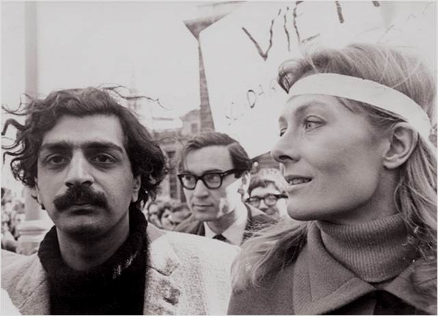 Tariq Ali (International Marxist Group /IMG - 4.International) og Vanessa Redgrave (Workers Revolutionary Party / WRP).
