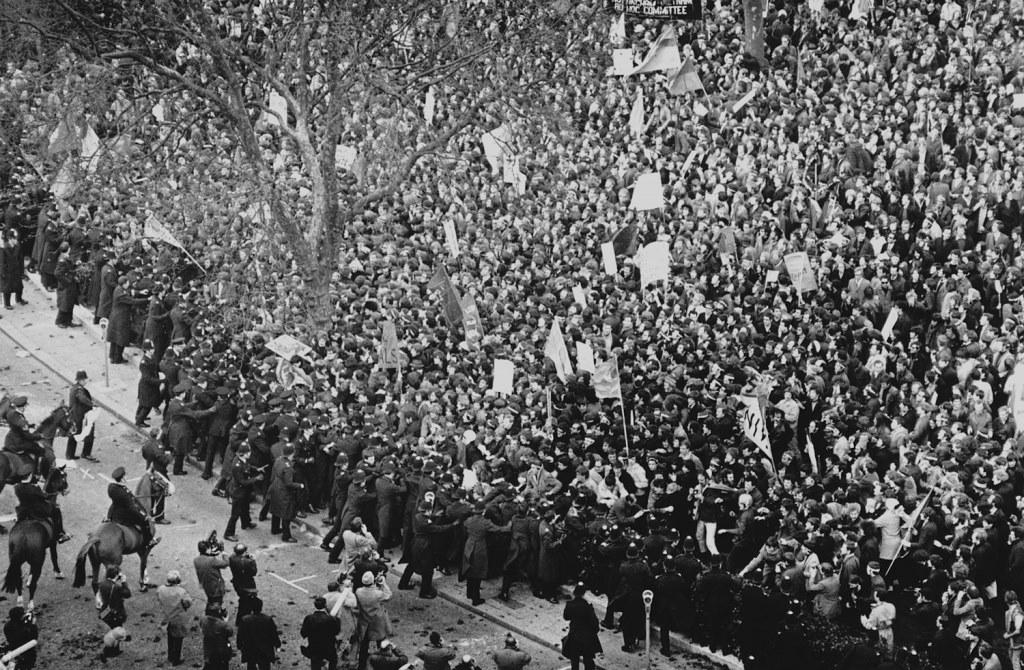 Vietnam antikrigsdemo i London, d. 18. marts 1968